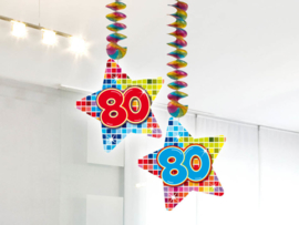 Hangdecoratie 80 jaar blocks
