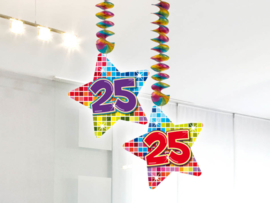 Hangdecoratie 25 jaar blocks