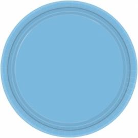Licht blauwe bordjes 8 stuks