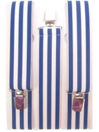 Bretels wit / blauw