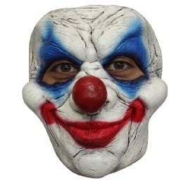 Clown creepy latex masker