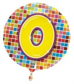 0 jaar folieballon blocks excl.