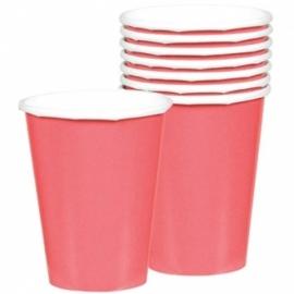 Roze bekers 8 stuks