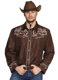 Western shirt brown