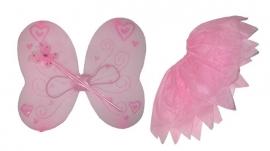 Vleugel kleding roze
