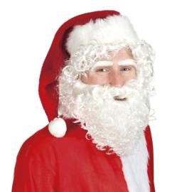 Kerstmannen baard en pruik set