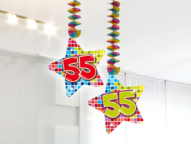 Hangdecoratie 55 jaar blocks