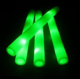 LED Foam stick groen 10 stuks