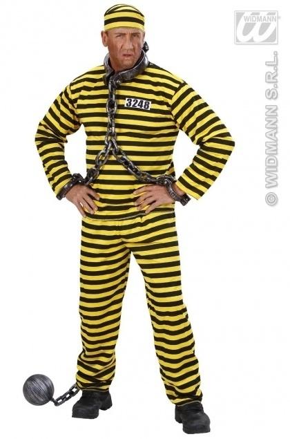 Gevangenis pak zwart / geel