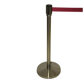 Afzetpaal RVS geslepen snelband BSL 3,0 mtr. Bordeaux rood - info