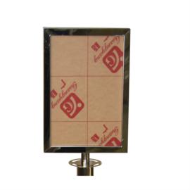 Verwijsbord A4 RVS traditioneel - info
