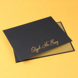 Portfoliomap Zwart en Goud