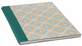 Notebook Retro Cahier - green orange