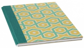 Notebook Retro Cahier - green yellow