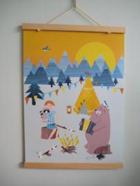 Poster:  Op avontuur met beer
