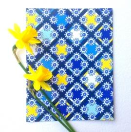 lentekriebels geel en blauw