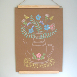 Illustratie gouache op karton