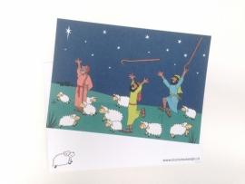 10 kerstkaarten herders
