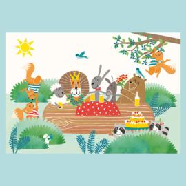 Poster:  dierenfeestje