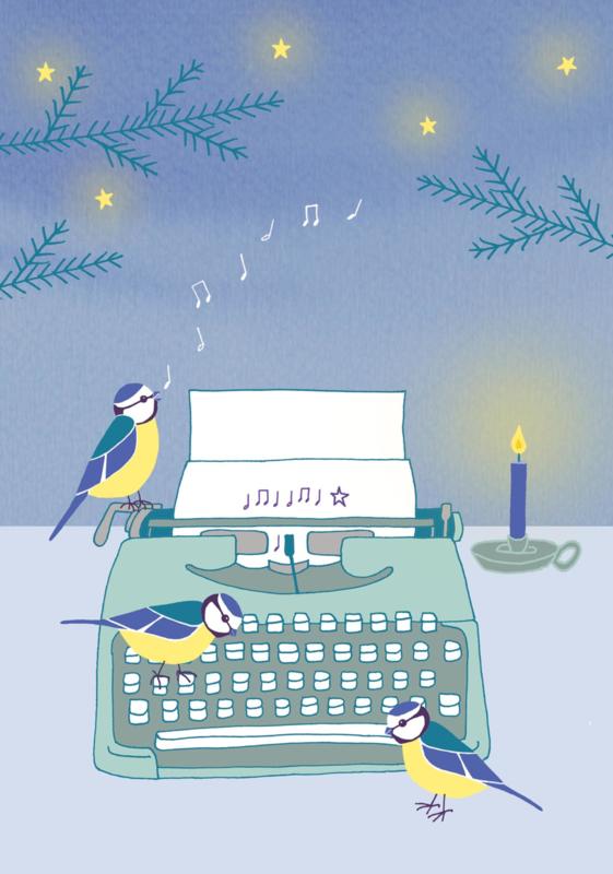 10 kerstkaarten mezenmuziek