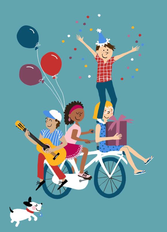 feestje op de fiets