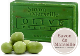 "Olive with leaves Soap Enriched with almond oil ""Le Chatelard 1802 de Marseille"""
