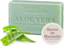 "Aloe Vera Soap Enriched with almond oil ""Le Chatelard 1802 de Marseille"""