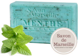 "Mint leaves Soap Enriched with almond oil ""Le Chatelard 1802 de Marseille"""