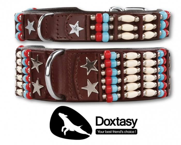 Doxtasy Leren Halsband+Looplijn