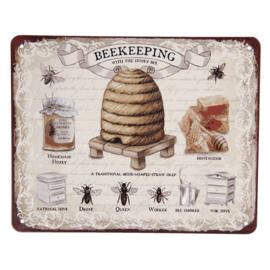 Tekstbord Bee-keeping 25*20
