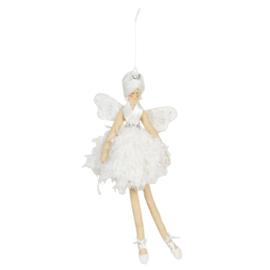 Decoratie engel hanger wit 18*29