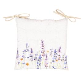 Stoelkussen met foam Lavender Fields 40*40