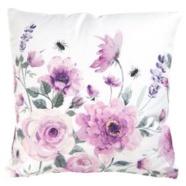 Kussenhoes rozen en vlinders roze 40*40