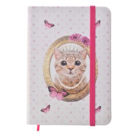 Notitieboekje poes roze 14*10