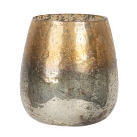Waxinelichthouder goud 9*10