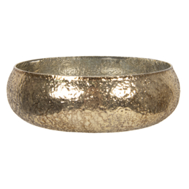 Schaal / waxinelichthouder brons
