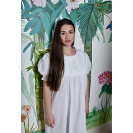 Romantisch nachthemd Lillian kort pofmouwtje