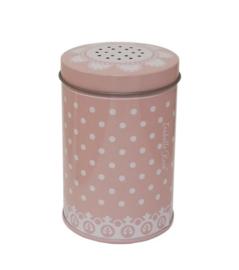 Suikerstrooier roze witte stippen