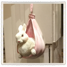 Paashanger konijntje roze 5*7*9