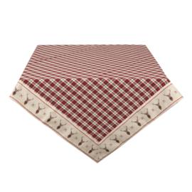 Tafelkleed Kerst Cosy Lodge 150*250