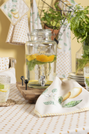 Stoffen servetten (6) Lemons and Leafs