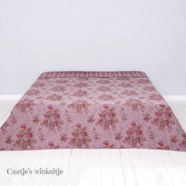 Romantische bedsprei met rozen roze 180*260