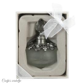 Parfumflesje zilverkleur