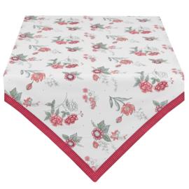 Tafelkleed bloemen roze/rood 130*180