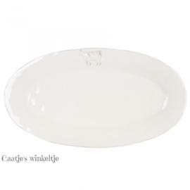 Grote ovale schaal koe 42*23 cm