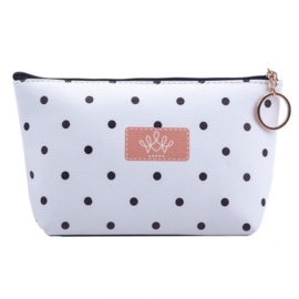 Make-up tas met stippeltjes 21*12