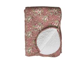Quilt / woondeken oud roze 180*130
