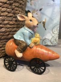 Decoratie konijn op wortel