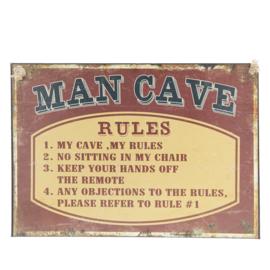 Tekstbord  Man Cave ijzer 29*40