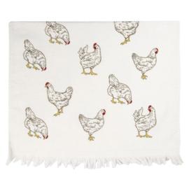 Landelijk gastendoekje kippen